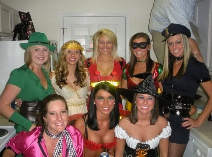 College Girls at Halloween Parties