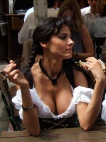 Big Cleavages at Oktoberfest
