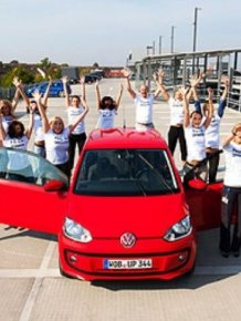 Volkswagen up! carrying 16 passengers