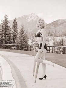Images of Injured Marilyn Monroe