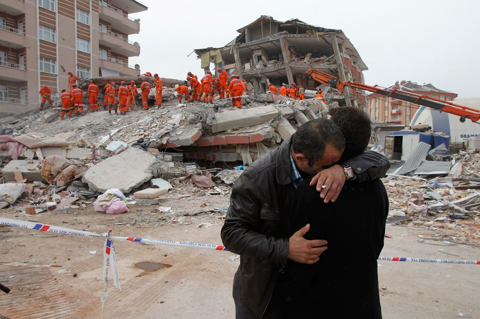 The earthquake in Turkey
