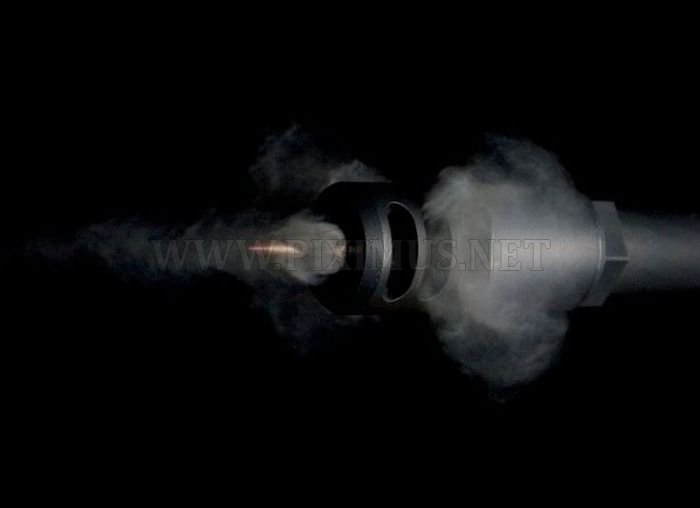 High-Speed Photographs of Bullets