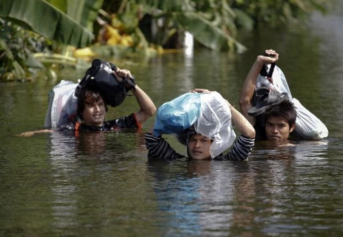 Monsters on the Run after Severe Flooding in Thailand