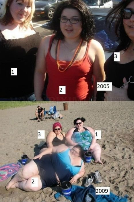 Cute Girls Who Became Fat, part 3
