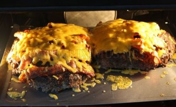 A Double Decker Pizza Burger