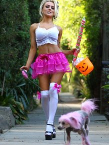 Courtney Stodden Dressed Up for Halloween