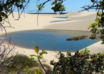 Beautiful White Sand Dunes in Brazil
