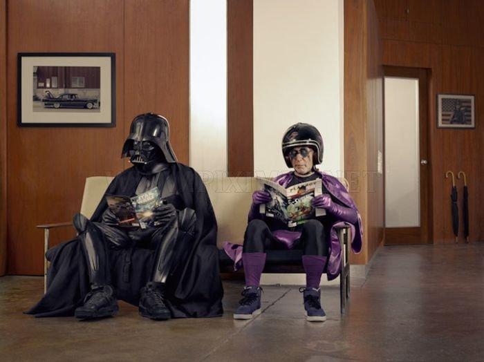 Dark Superhero Grandpa Befriends Darth Vader