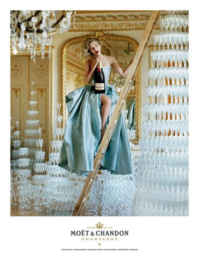 """Scarlett Johansson in """"Moet and Chandon"""" 2011 Ad Campaign"""
