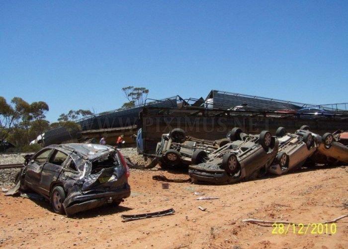 Derailment of a Car Carrier