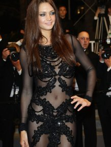Candice Boucher's See-Through Dress