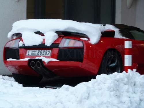 Lamborghini on snow