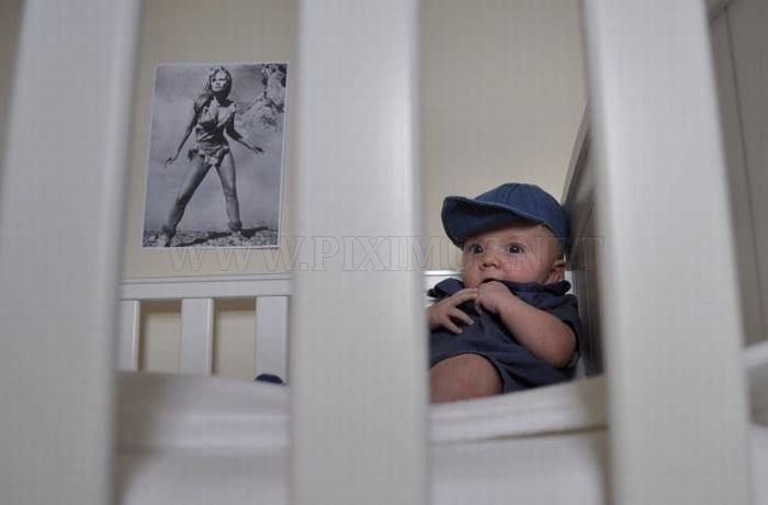 Baby Recreates Classic Movie Scenes