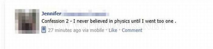 Embarrassing Facebook Status Updates