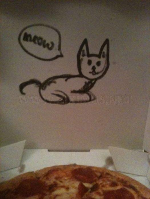 Pizza Box Drawings
