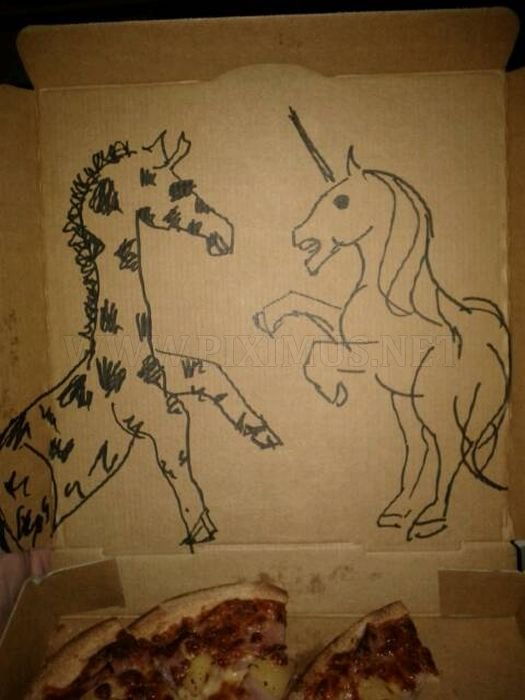 Pizza Box Drawings | Fun