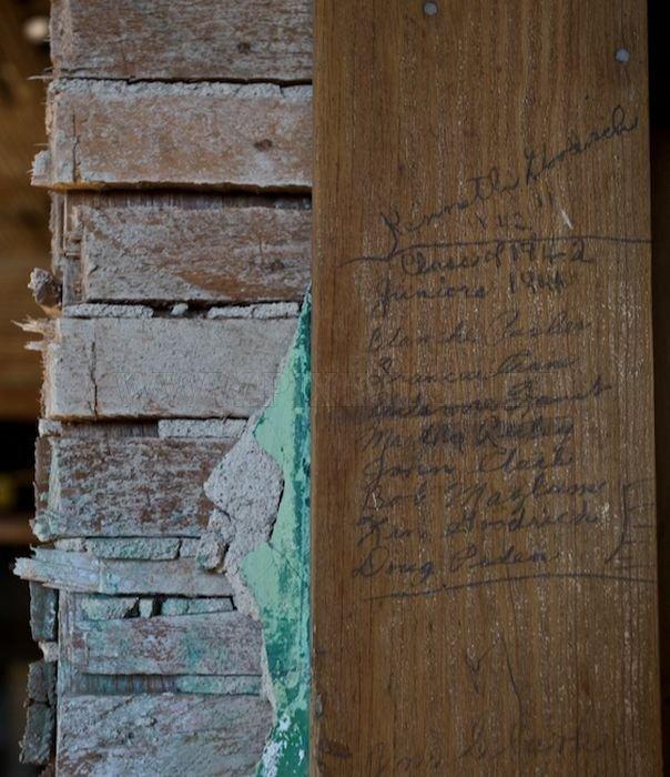 Abandoned High School in Goldfield, Nevada