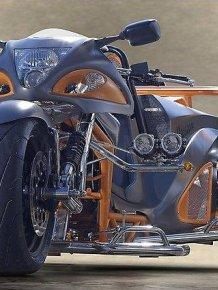 Tricycle based on Suzuki Hayabusa