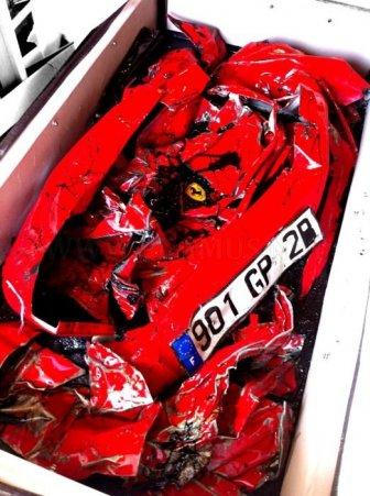 Crashed Ferrari Table