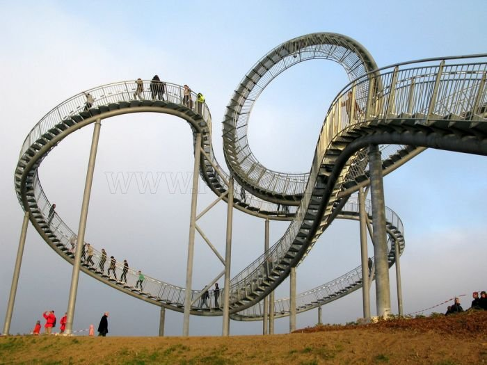 Tiger and Turtle Magic Mountain. The Walkable Rollercoaster