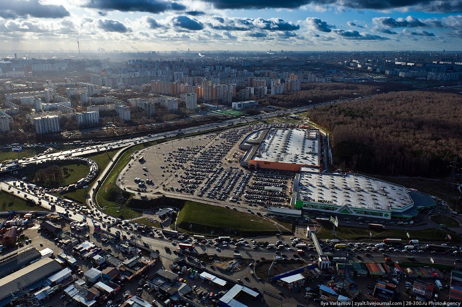 Flying around Moscow
