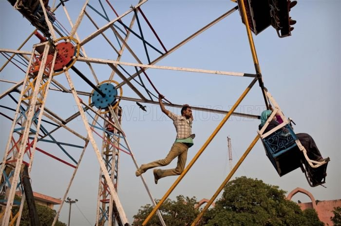 Man-Powered Merry-Go-Round in India