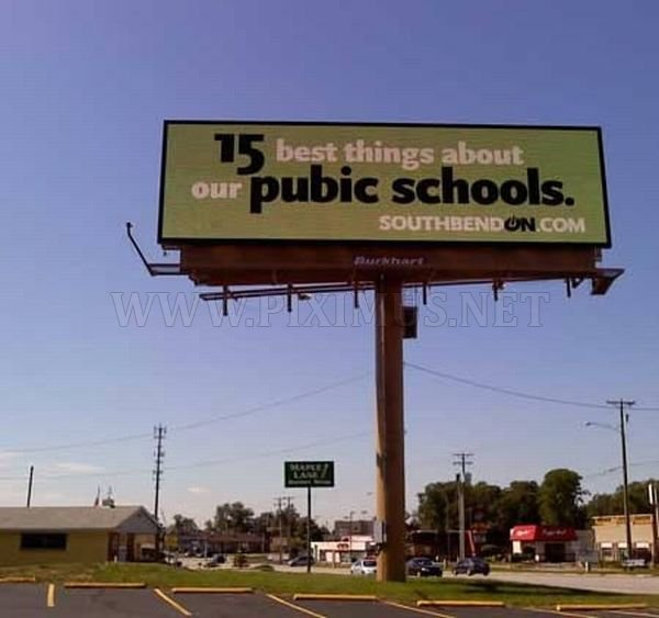 Billboard Spelling Fails