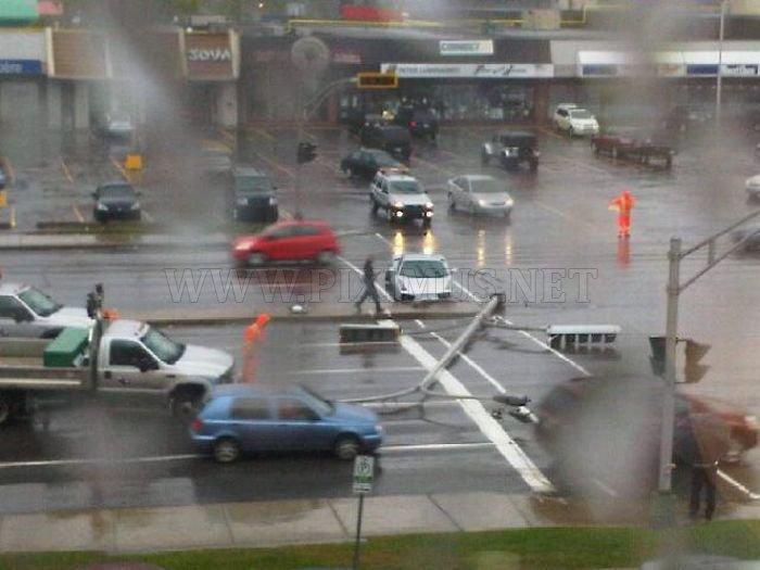 Crashed Lamborghini on a Test