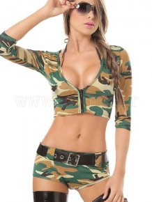 Sexy Girls Wearing Camouflage Outfits