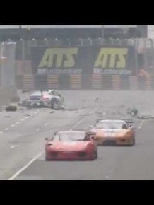 Massive GT Cup crash at Macau 2011