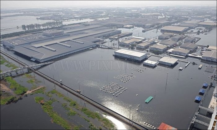 Flooded Honda Factory in Thailand