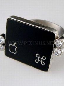 Jewelry Made in Form of Keyboard Keys