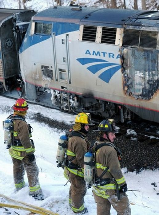 Amtrak Train Fire
