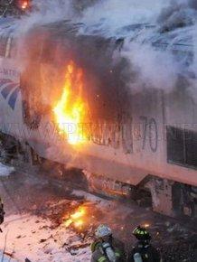 Amtrak Train Fire