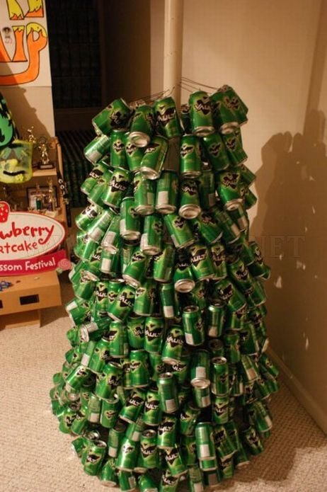 Empty Can Christmas Tree