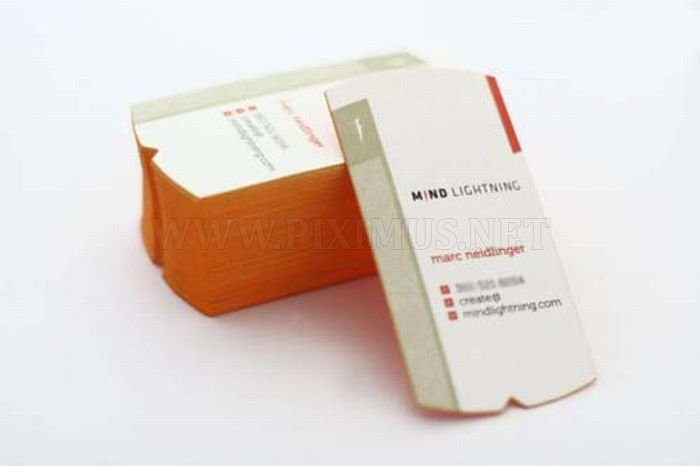 Very Creative Edge Painted Business Cards