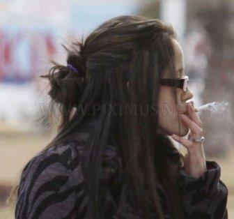 Smoking on Gas Station