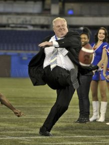 The Best Toronto Mayor Kicking A Football Meme