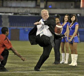 The Best Toronto Mayor Kicking A Football Meme