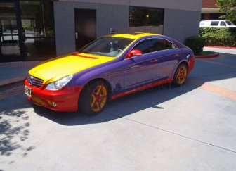Multi-colored Mercedes-Benz CLS 550