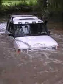 Land Rovers in Deep Deep Water