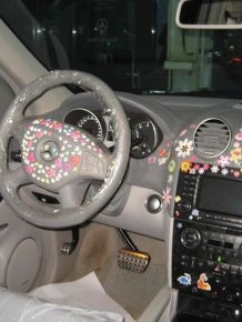 Crazy Mercedes-Benz Decoration