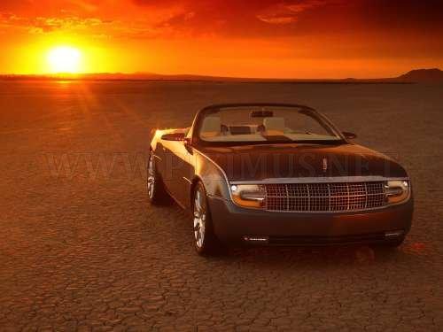Cars at sunset