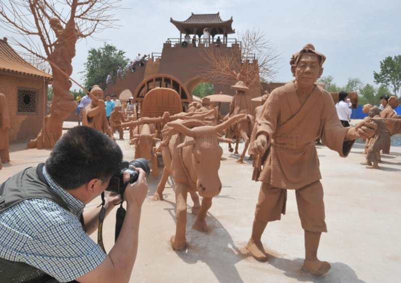 City made of clay