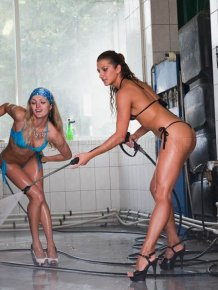 Russian Car Wash Babes