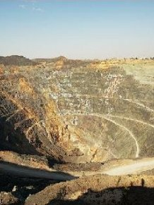 The 500 Meters Deep Open Copper-Zinc Mine in Russia