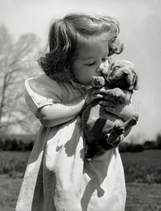 Retro Photos of People with Dogs