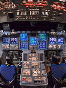 Inside Shuttle Atlantis