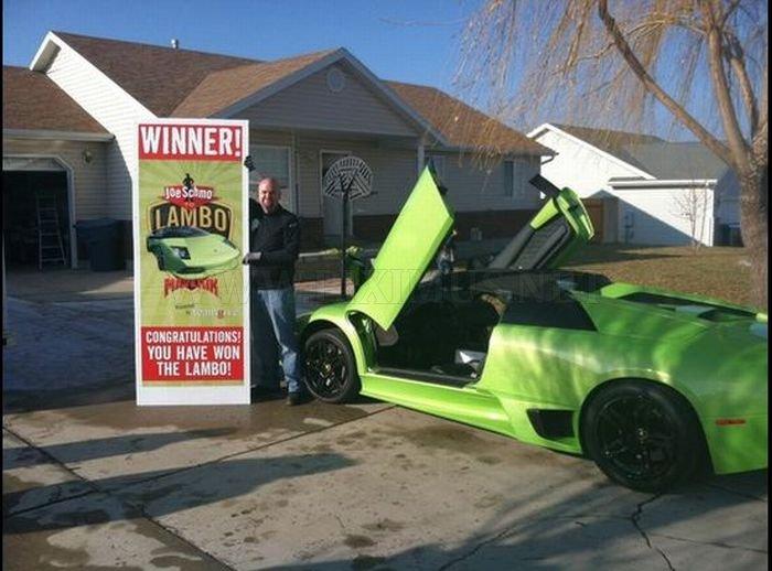 Utah Man Wins and Crashes a Lamborghini
