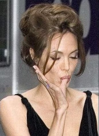 Funny Faces of Angelina Jolie